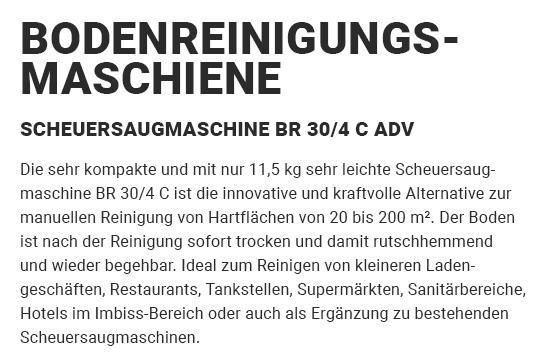 Bodenreinigungsmaschine aus 74211 Leingarten