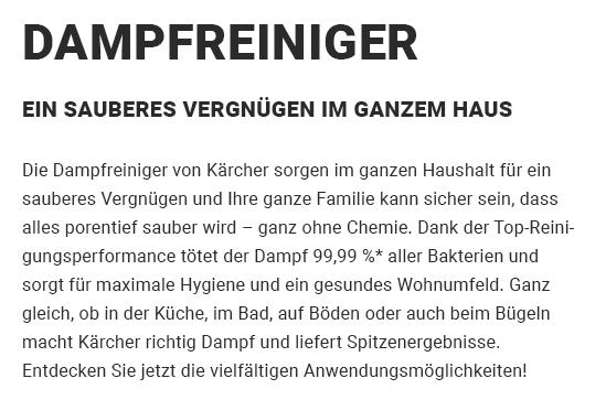 Dampfreiniger für 74369 Löchgau