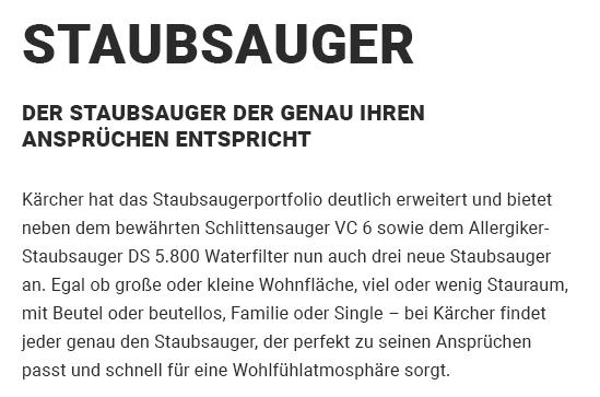 Staubsauger aus  Löchgau