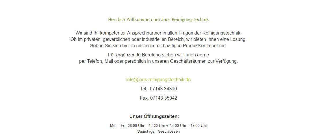 www.Joos-Reinigungstechnik.de, Ihr Fachmann für KÄRCHER Reinigungsgerät für 74395 Mundelsheim